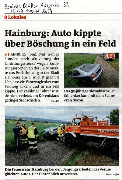 Medienbericht der Bezirksblätter Nr. 33 aus 2014 | Copyright by Bezirksblätter