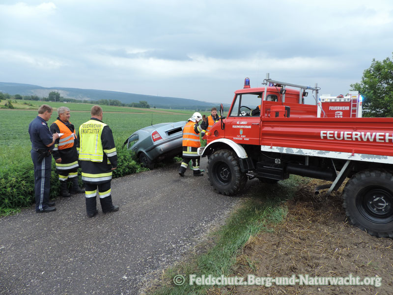 Unfall auf Feldweg in Hainburg | Foto: Feldschutz.Berg-und-Naturwacht.org