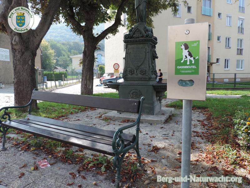 Gassibeutelbox am neuen Standort in Hainburg | Foto: Berg-und-Naturwacht.org