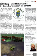 Gemeindemagazin AgorA berichtet über NÖ Berg- und Naturwacht Ortseinsatzleitung Hainburg